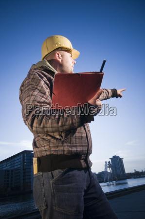 bla planlaegge vise bygge menneske person
