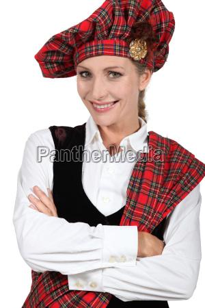 traditionel kostume scottish schotten international kontrolleres
