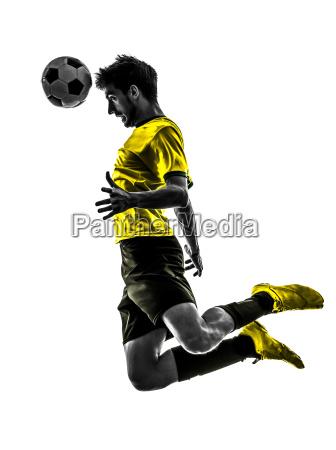 brasiliansk fodboldspiller ung mand kurs silhuet