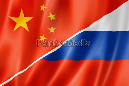 fane kina flag kinesisk rusland russisk