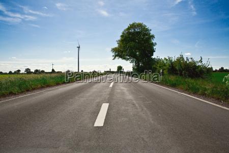 asfalt vindenergi himmel firmament vej road