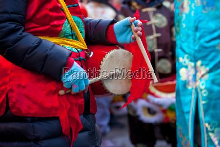 helligdag kinesisk milan parade nye ar