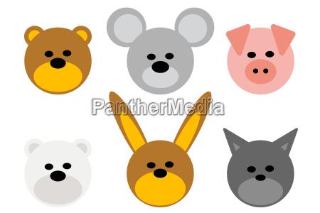 bear fauna polar bear animals rabbit