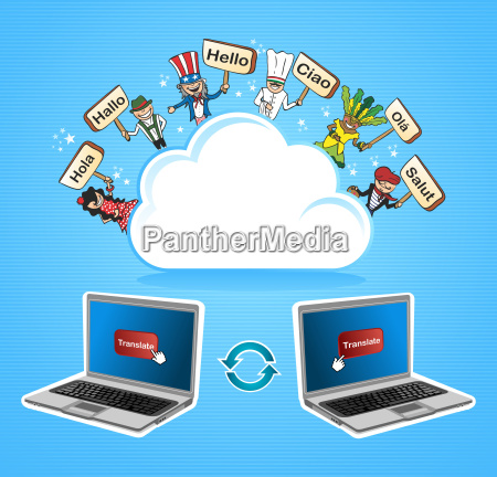 cloud computing oversaette koncept