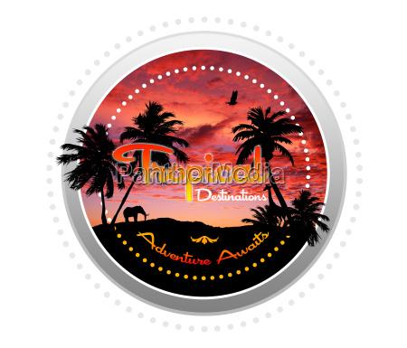 tropiske rejsemal eventyr venter