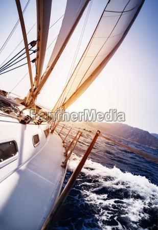 luksus yacht i aktion