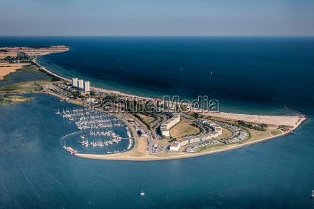 femern south beach aerial view