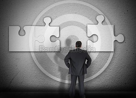 forretningsmand lose puslespil