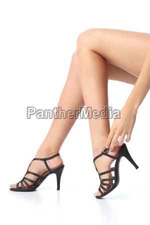kvinde med smukke ben der rorer