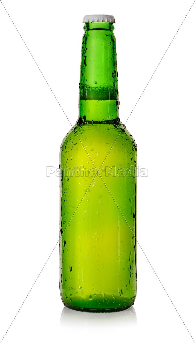 Øl, i, en, grøn, flaske - 10122281