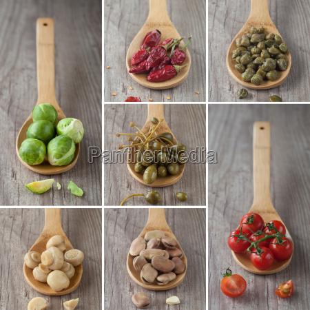 blandet, grøntsager, collage - 10145813