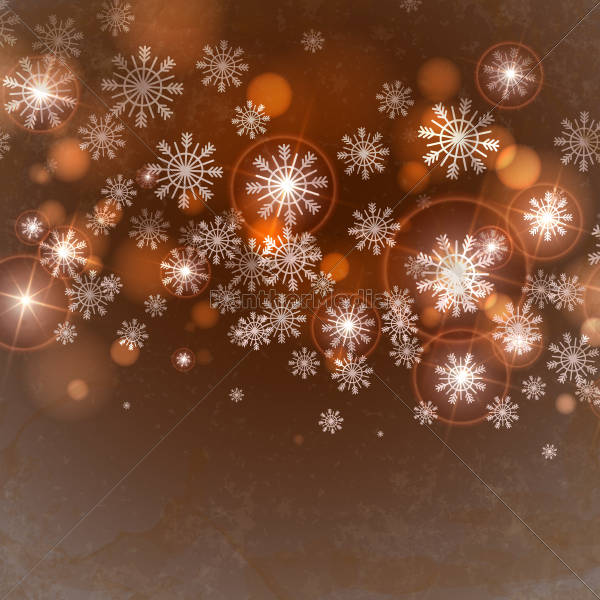 brun, baggrund, med, snefnug. - 10169607