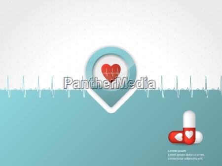 medicinsk, baggrund, design, med, symboler - 10197195