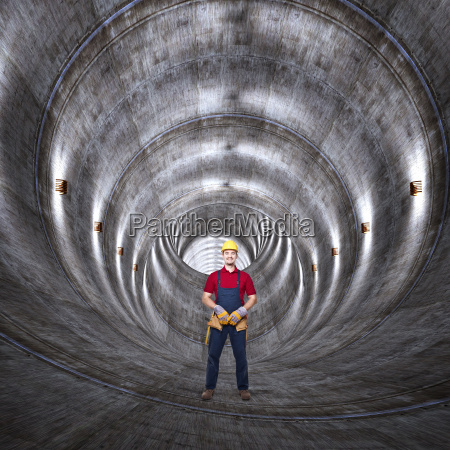 beton, tunnel, og, mand - 10299387