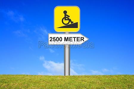 log retningsbestemt sign korestol rampe 2500