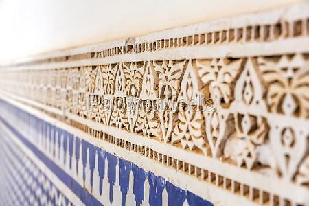 detalje kultur sten mur ornamentik dekor
