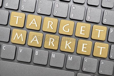 target marked tastatur