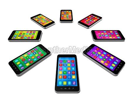 smartphones farver saet