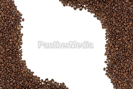 ramme af ristede kaffebonner venstre og