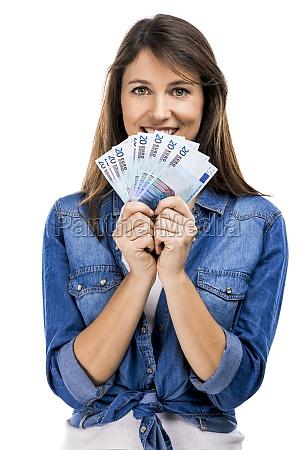 kvinde kvinder besparelser besiddelse af holder
