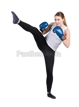 kvinde sport bekaempe sport kick boksning