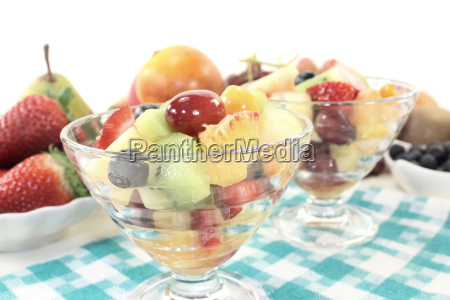 fruit salad in a bowl on