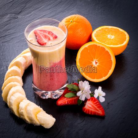 jordbaer banana smoothie