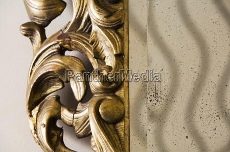 detaljeret udsmykkede spejl