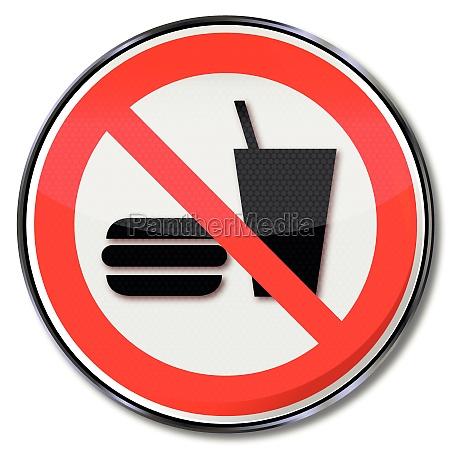 forbud tegn for spisning forbudt
