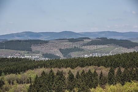 bjerge horisont dis marker skove landskab