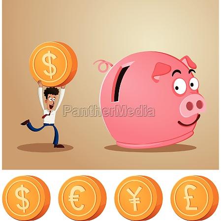 spare penge i piggybank