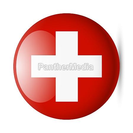 runde blank ikon af schweiz