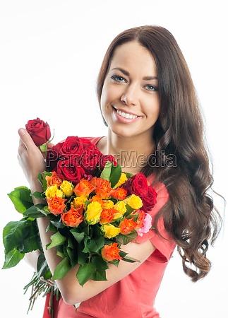 kvinde roser mors dag valentinsdag kaerlighed