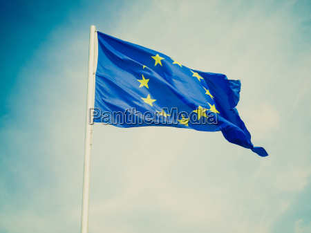retro look europas flag