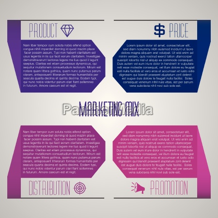 business template for presentation concerning marketing