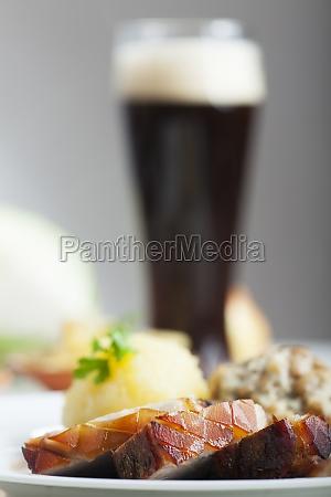 bavarian roast pork and white beer