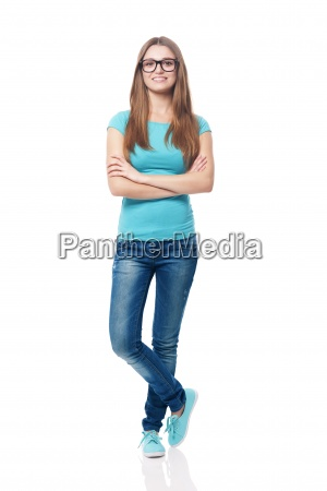 portrait of smiling young female student
