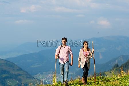 alperne par mens ud vandring