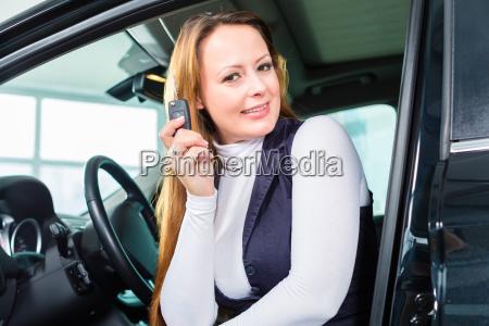 woman or female customer in new