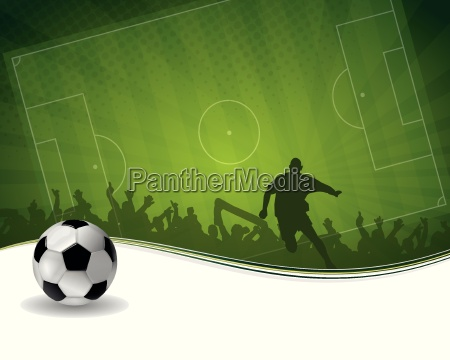 fodboldspiller med bold
