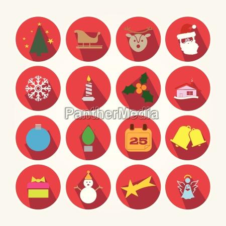 grafik juletid jul garniture ikoner fix