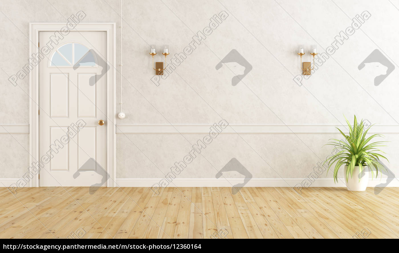 hvidt, klassisk, værelse - 12360164