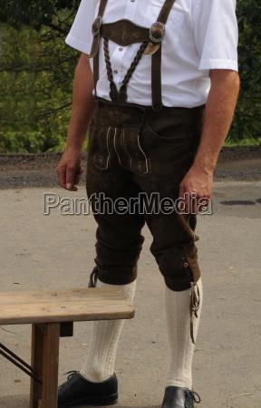 mode brugerdefinerede kostume steiermark laederbukser lederhosen