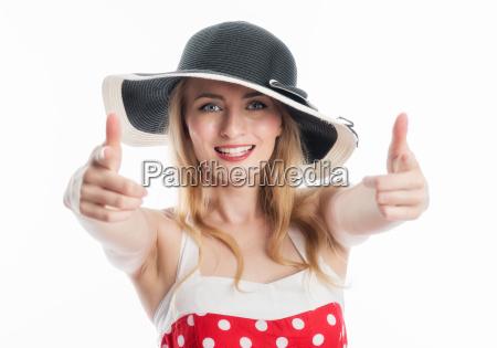elegant kvinde med hat