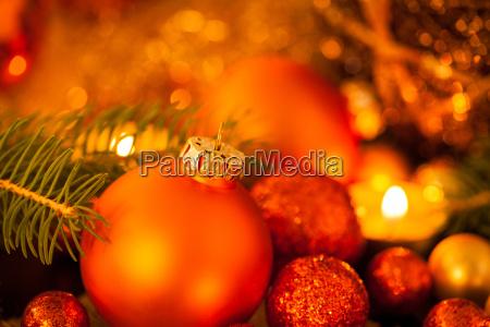 varm gylden og orange romantisk julepynt