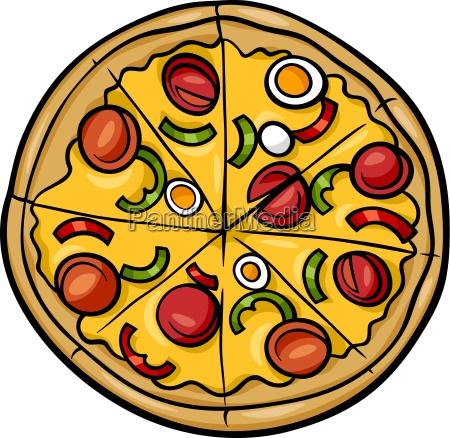 italiensk pizza cartoon illustration