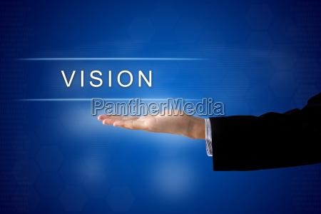 knappen vision pa virtuel skaerm