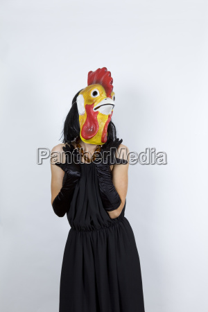 cock in evening dress