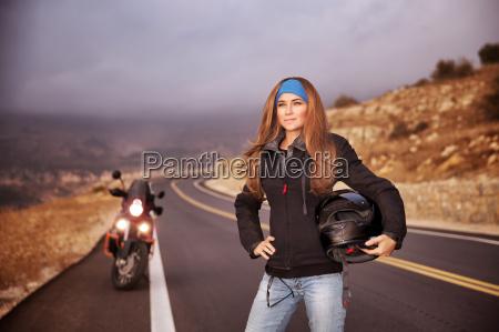 mode biker pige