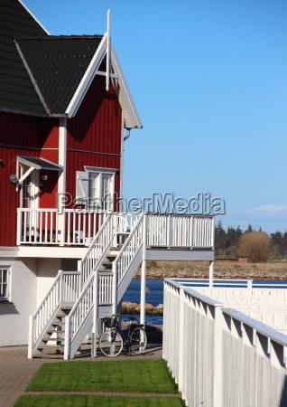 bla sommer sommerlig balkon udsigt udsyn